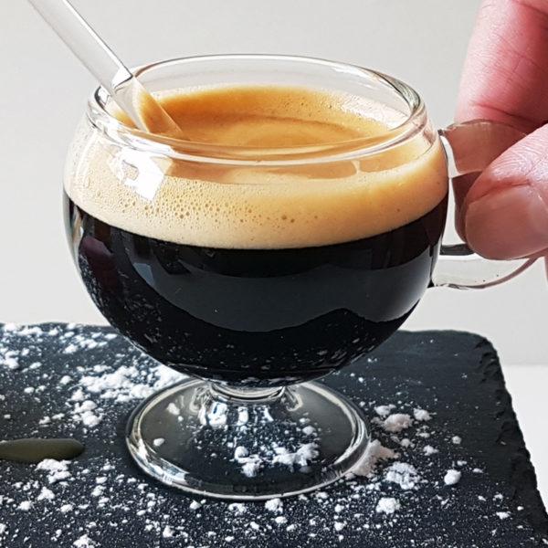 Set of 2 PARISIANA glass coffee cups