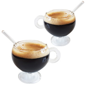 Set of 2 PARISIANA glass coffee cups