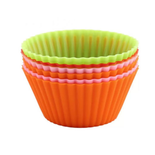 6 Silicone Cupcake Molds
