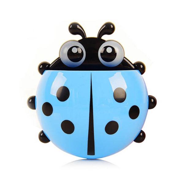 Adorable Ladybug toothbrush holder | Blue