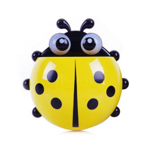 Adorable Ladybug toothbrush holder | Yellow