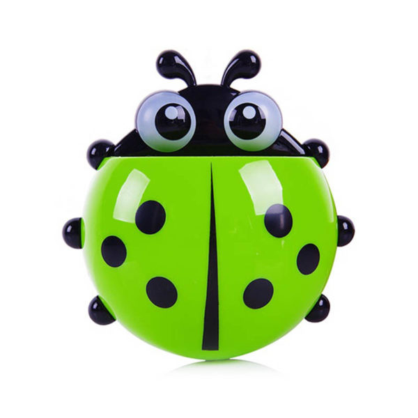 Adorable Ladybug toothbrush holder | Green