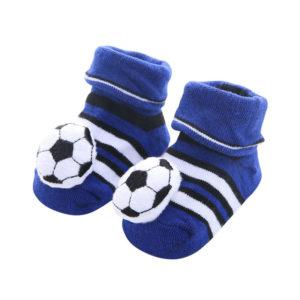 Adorable 3D pair of baby socks | Soccer ball