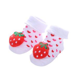 Adorables chaussettes pour bébé_Fraise 02-01