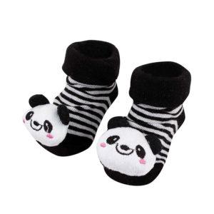 Adorable 3D pair of baby socks | Panda