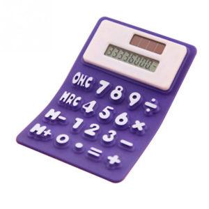 Calculatrice solaire souple en silicone_Violet 01