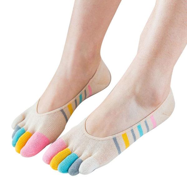 Chaussettes ludiques avec doigts de pied_Beige 01-01