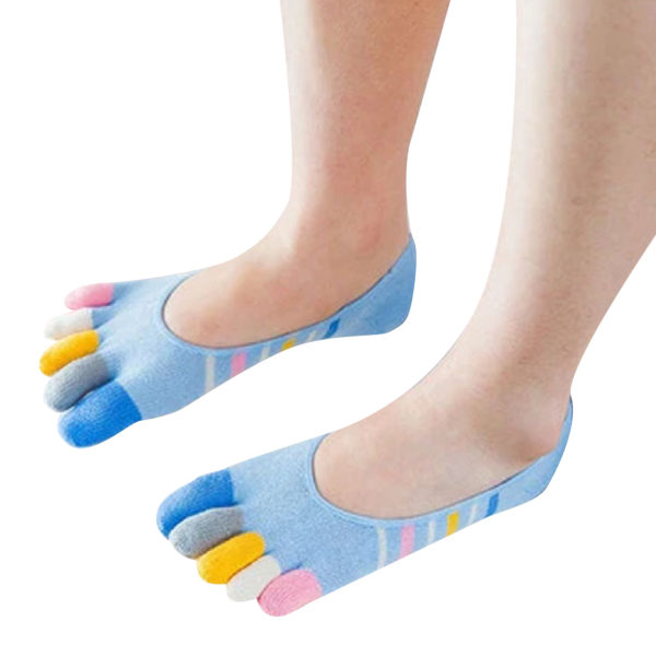 Pair of playful socks with toes | Blue