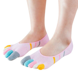 Pair of playful socks with toes | Pink