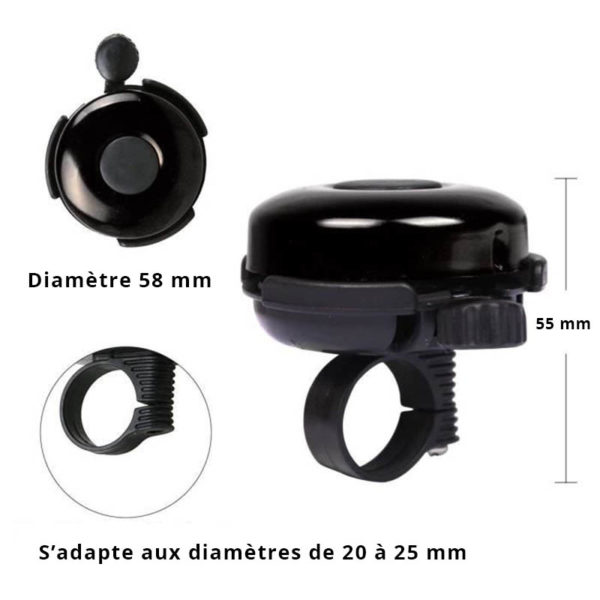 Smart bicycle bell | Black