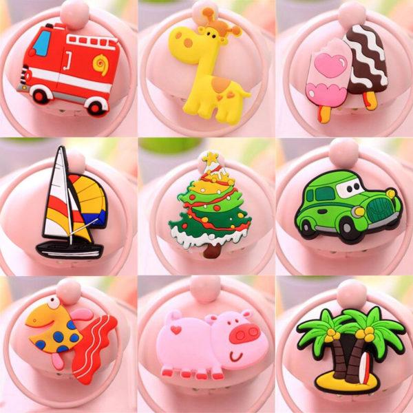 Lot de 10 adorables aimants colorés