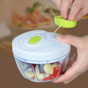 Mini multifunction manual chopper | Red