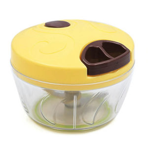 Mini multifunction manual chopper | Yellow