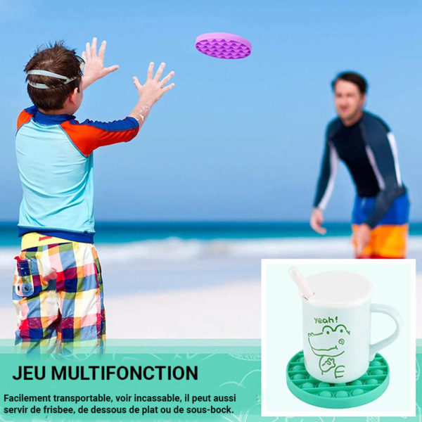 Fun round silicone multifunction game | Green