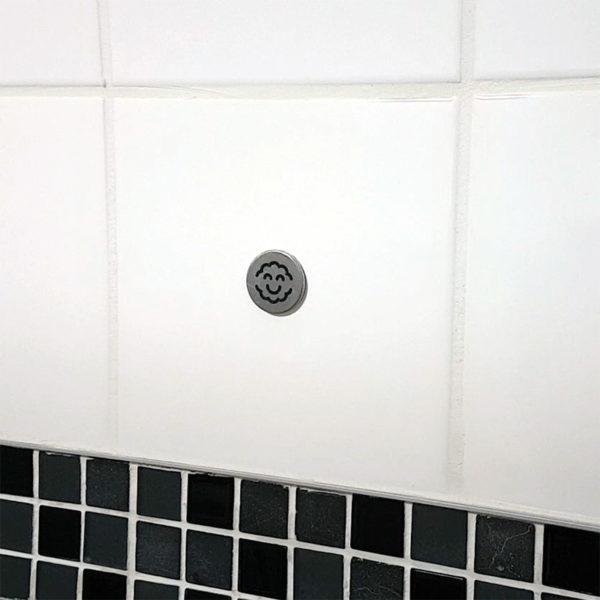 Jeton métallique adhésif pour Scrubbio