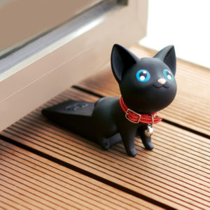 Adorable Cat Door Stopper | Black
