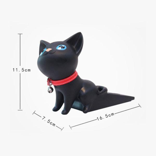 Adorable Cat Door Stopper | Black