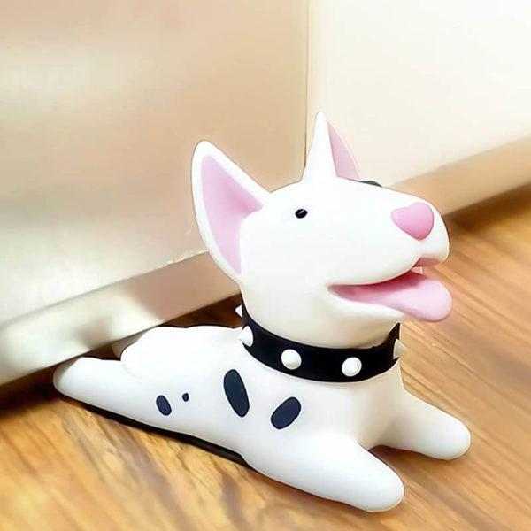 Adorable Dog Door Stopper | White