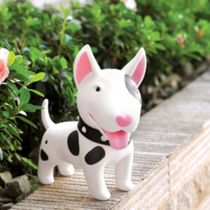Cute piggy bank dog | White