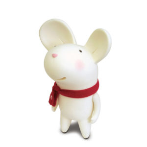 Adorable Mouse Piggy Bank | White