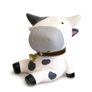 Adorable Cow Piggy Bank | White