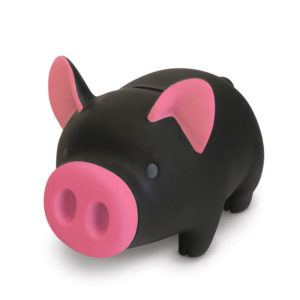 Cute piggy bank | Black