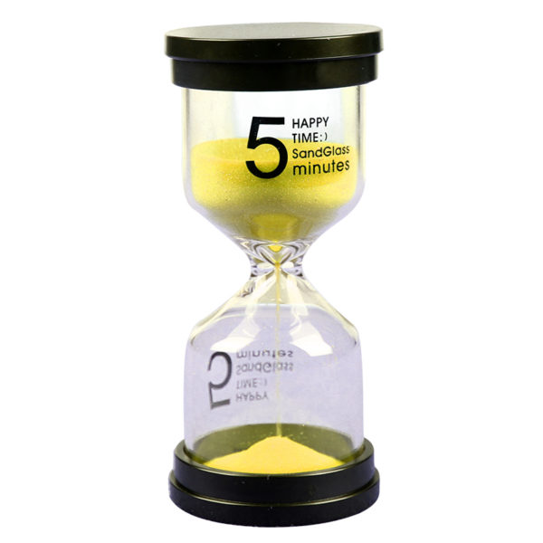 Adorable colored glass hourglass 5 min | Yellow