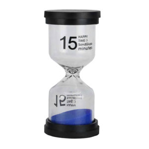 Adorable colored glass hourglass 15 min | Blue