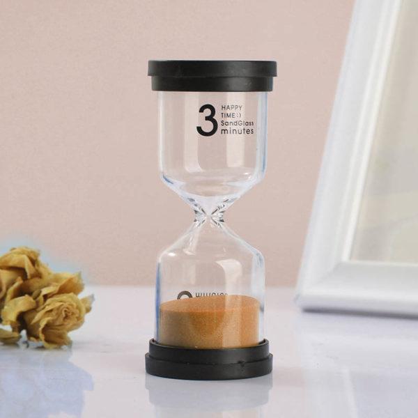 Adorable colored glass hourglass 3 min | Orange