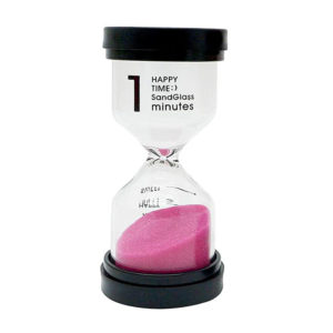Adorable colored glass hourglass 1 min | Pink
