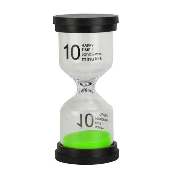 Adorable sablier en verre coloré 10 min | Vert