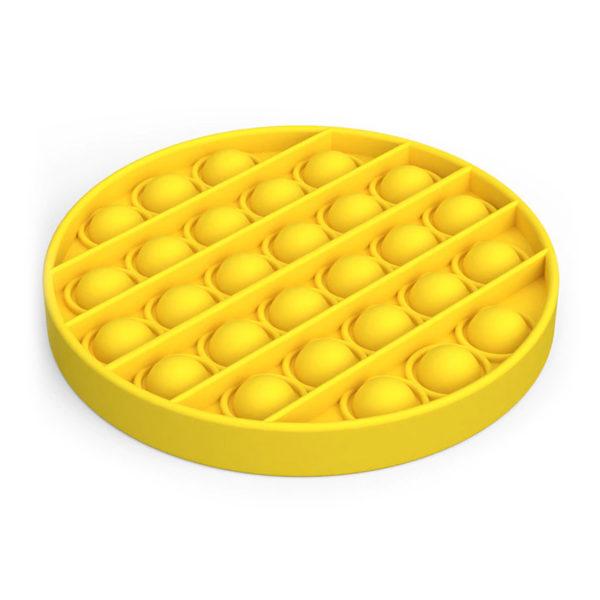 Fun round silicone multifunction game | Yellow