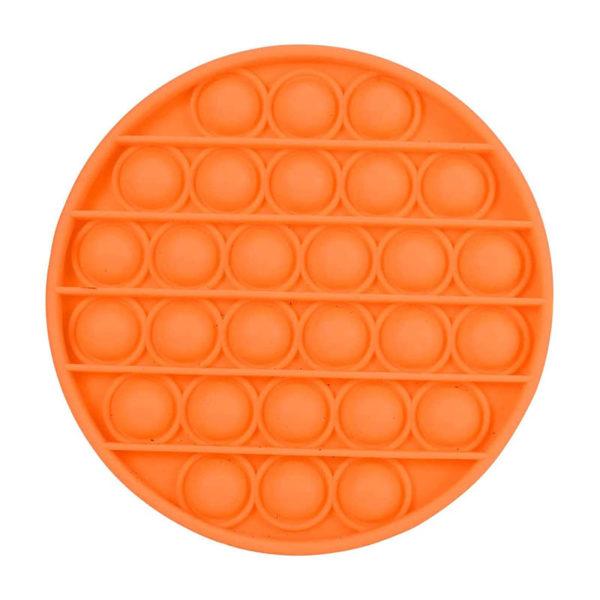 Jeu multifonction ludique en silicone rond | Orange