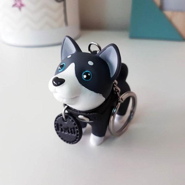 Dog keyring | Black