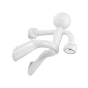 Magnetic man Keychain | White