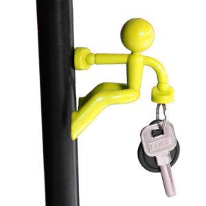 Magnetic man Keychain   Yellow