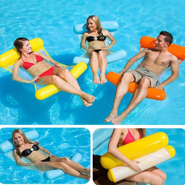 Colorful water inflatable hammock | Orange