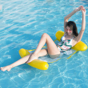 Colorful water inflatable hammock | Yellow