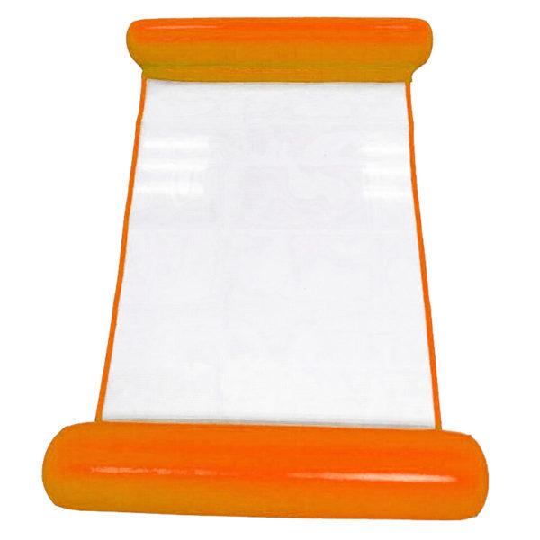 Hamac gonflable d'eau coloré | Orange