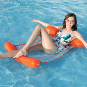 Colorful water inflatable hammock | Orange
