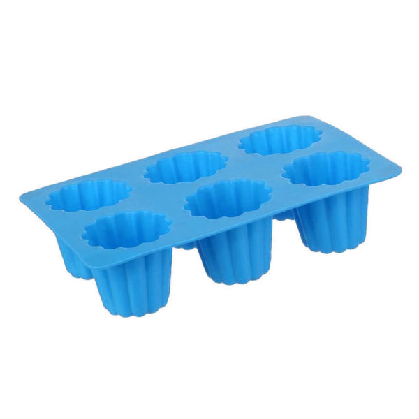 Silicone mold for 6 French cannelés | Blue