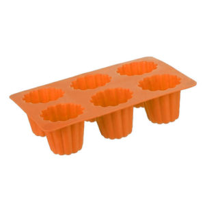 Silicone mold for 6 French cannelés | Orange