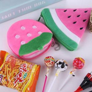 Pochette pour clés Fruit | Fraise rose