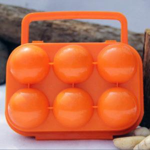 Colored transport box for 6 eggs | Orange