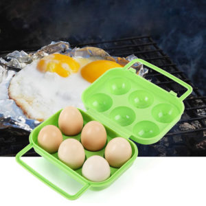 Colored transport box for 6 eggs | Green