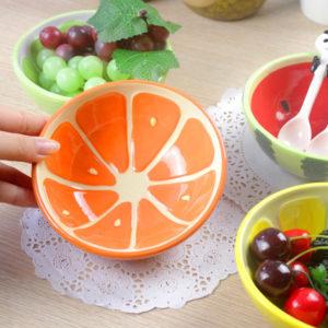 Colorful Fruity Ceramic Bowl | Orange