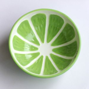 Colorful Fruity Ceramic Bowl | Lime