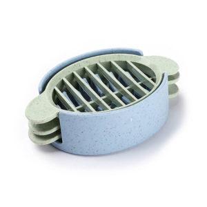 3-in-1 Multifunction Hard-Boiled Egg Cutter | Blue