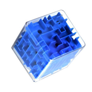 3d ball maze cube | Blue