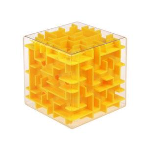 3d ball maze cube | Yellow